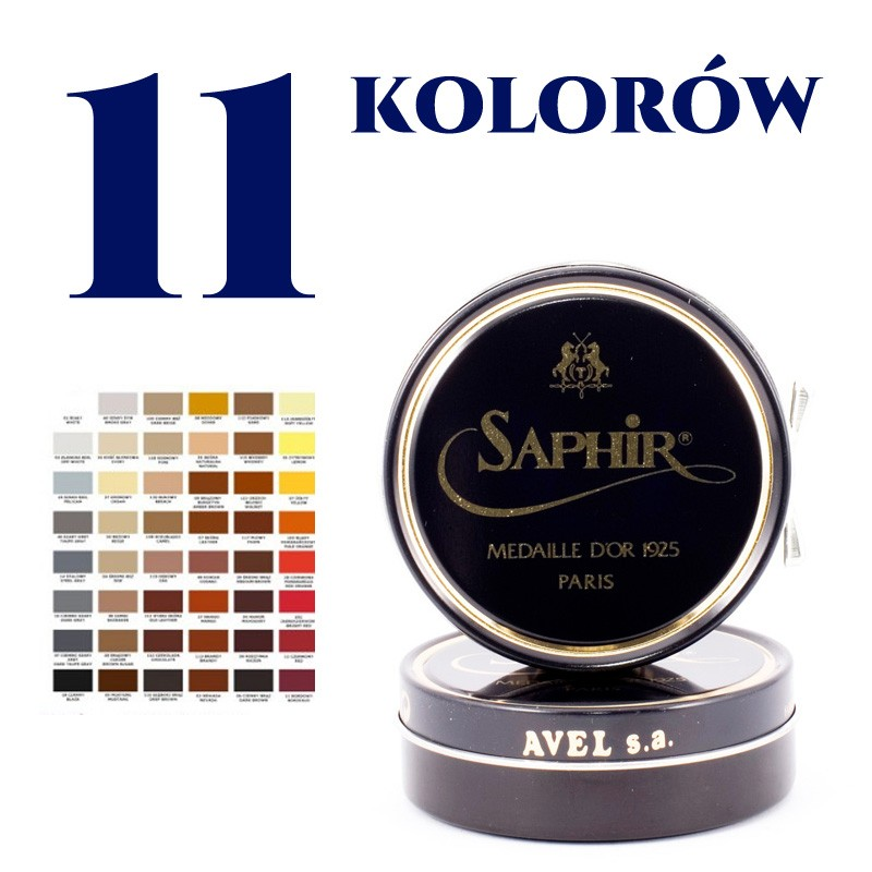 SAPHIR 50 ml PASTA/WOSK DO OBUWIA