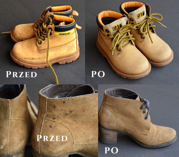 """Czyszczenie butów i torebek – zamsz, nubuk, tkaniny i materiały typu """"TEX"""""""